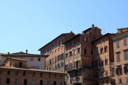 Old buildings in Sienna, city in Tuscany, Italy