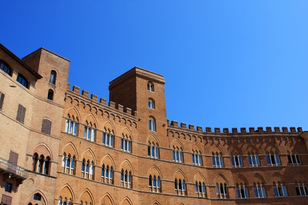 The palazzo Sansedoni on the piazza del Campo in Siena, Italy