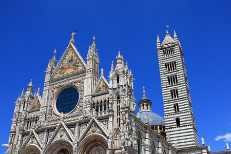 The Cathedral of Siena is a medieval church in Siena, Italy Stock Photo