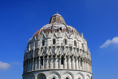 Baptistry of St. John in the Piazza dei Miracoli, Pisa, Italy photo