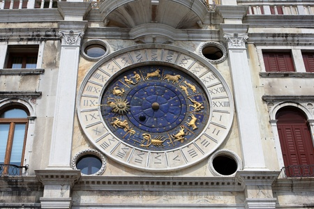 Astronomical St. Marks Clock in the Clocktower on the Piazza San Marco, Venice, Italy