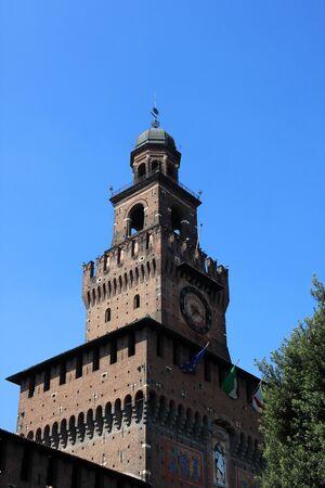 sforza: Sforza Castle (Castello Sforzesco) in Milan, Italy