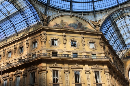 The Galleria Vittorio Emanuele in the center of Milan, Italy