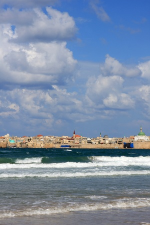 View of Akko and mediterranean sea, Israel