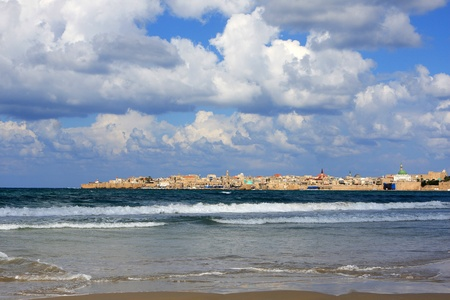 akko: View of Akko and mediterranean sea, Israel