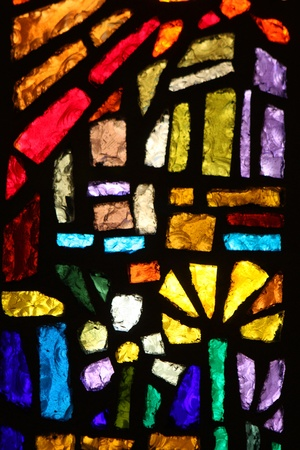 Stained glass window at the Basilica of the annunciation, Nazareth, Israel