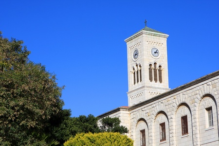Tower of the St. Josephs Church in the Old City of Nazareth, Israel
