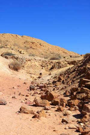 negev: Different colored sand in Negev desert, Israel
