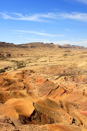 Different colored sand in Negev desert, Israel photo