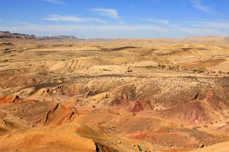 big scenery: Different colored sand in Negev desert, Israel