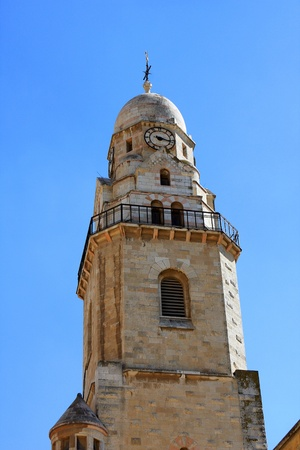 Bell Tower of the abbey of the Dormition of the Virgin Mary or Hagia Maria Sion Abbey, Benedictine abbey on Mt  Zion, Jerusalem, Israel Stock Photo - 13524979