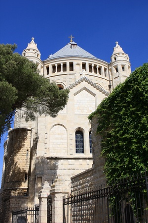 Abbey of the Dormition of the Virgin Mary or Hagia Maria Sion Abbey, Benedictine abbey on Mt  Zion, Jerusalem, Israel photo