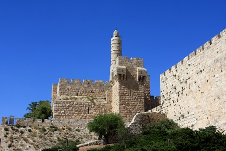 Tower of David in Jerusalem, Old city, Israel photo