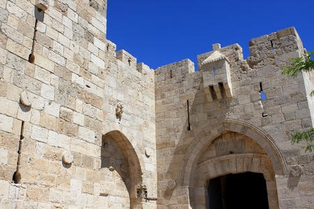 Jaffa gate to the old city of Jerusalem, Israel Standard-Bild
