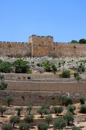 View of Golden gates in Jerusalem, Israel
