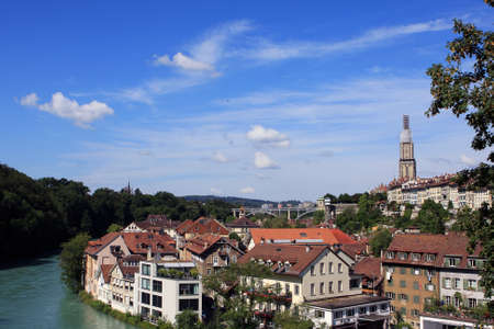View of Bern and Aare river, Switzerland