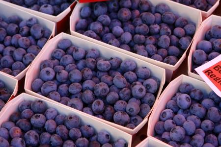 Close up of fresh blueberries at the market, Switzerland