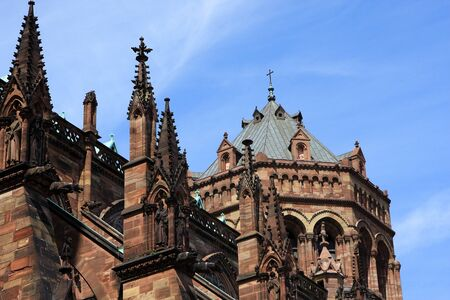 The southern side of the Strasbourg Cathedral a Roman Catholic cathedral, Alsace, France photo