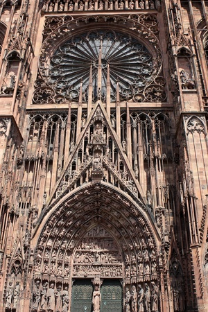 Detail of Strasbourg Cathedral a Roman Catholic cathedral, Alsace, France