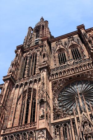 Strasbourg Cathedral is a Roman Catholic cathedral, Alsace, France photo