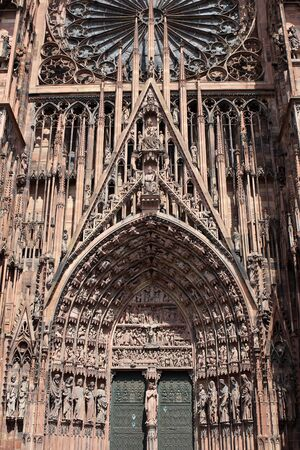 Detail of Strasbourg Cathedral a Roman Catholic cathedral, Alsace, France photo