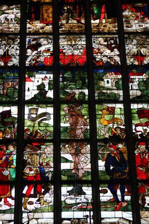 Stained glass window in Frauenkirche, Munich, Germany
