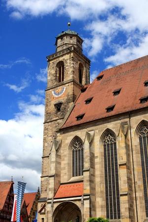 St  Georg church at the market square, Dinkelsbuehl, Bavaria, Germany