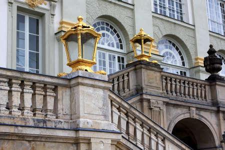nymphenburg palace: Nymphenburg, Germany - July17, 2012: Detail of The Nymphenburg Palace in Munich, Bavaria, Germany