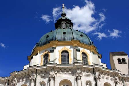 ettal: Germany - July 18, 2012: Ettal Abbey  Kloster Ettal , Benedictine monastery in Bavaria, Germany Editorial