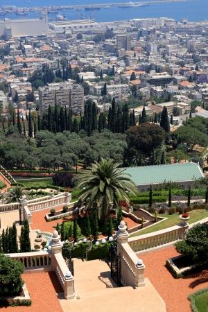 Haifa, Israel - 12 May, 2012: View of Bahai gardens on mount Carmel Stock Photo - 14756778
