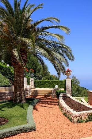 Haifa, Israel - 12 May, 2012: View of Bahai gardens on mount Carmel Stock Photo - 14756777