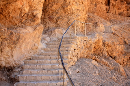 Stairs to the Masada fortress in Israel