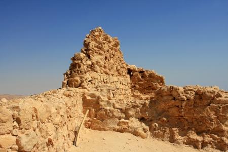 Ruins of ancient Masada fortress in Israel Stock Photo - 15744739