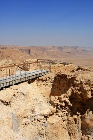 masada: Ruins of ancient Masada fortress in Israel