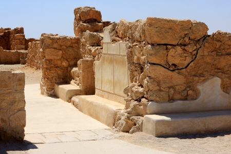 Ruins of ancient Masada fortress in Israel Stock Photo - 15744740