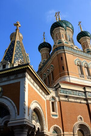 The St  Nicholas Orthodox Cathedral, Russian orthodox church, Nice, France