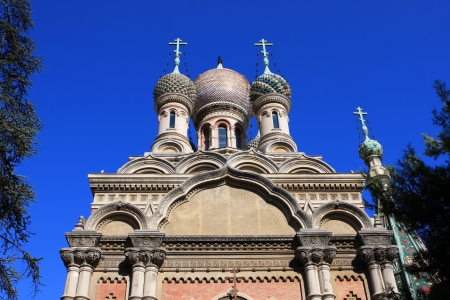 sanremo: The Russian Orthodox Church in San Remo, Italy Stock Photo