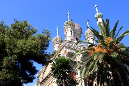 The Russian Orthodox Church in San Remo, Italy Stock Photo