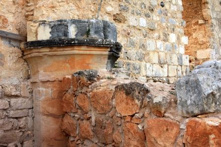 Ruins of Monfort castle, crusader castle in western Galilee, Israel