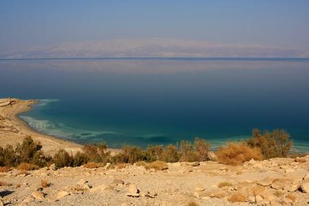 Photo of the coast of the Dead sea, Israel Stock Photo