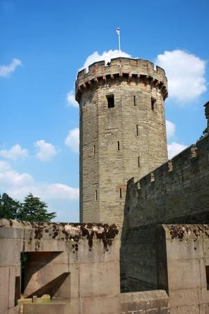 Warwick castle, medieval castle in England