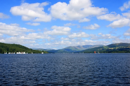 Windermere lake, largest natural lake in county of Cumbria, England Stock Photo - 21582043