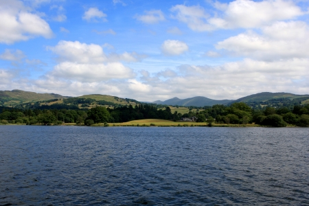 Windermere lake, largest natural lake in county of Cumbria, England Stock Photo - 21582051