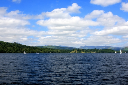 Windermere lake, largest natural lake in county of Cumbria, England Stock Photo - 21582045