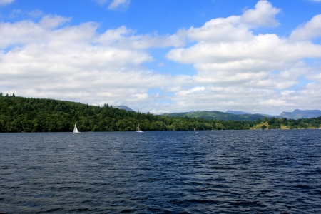 Windermere lake, largest natural lake in county of Cumbria, England Stock Photo - 21582046