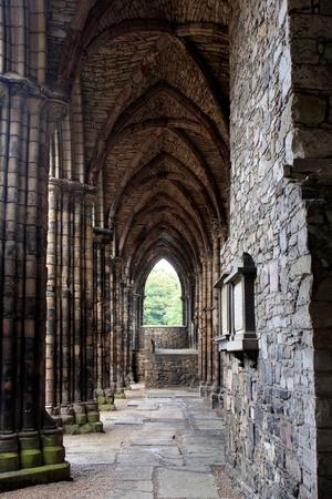 abbey ruins abbey: Ruins of Holyrood Abbey in Edinburgh, Scotland