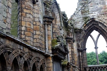 Ruins of Holyrood Abbey in Edinburgh, Scotland