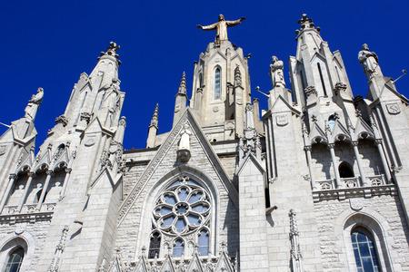 tibidabo: Expiatory Church of the Sacred Heart of Jesus on Tibidabo mountain, Barcelona, Spain