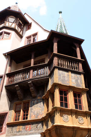 historical architecture: Typical historical architecture of Colmar Alsace France