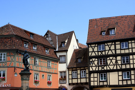 alsace: Typical historical architecture of Colmar Alsace France